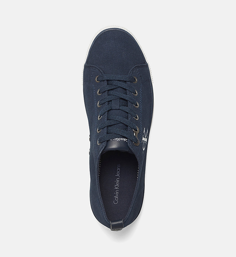 CALVIN KLEIN JEANS Canvas Sneakers - BLACK - CALVIN KLEIN JEANS MEN - detail image 1