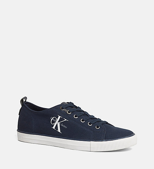CALVIN KLEIN JEANS Canvas Sneakers - BLACK/NAVY - CALVIN KLEIN JEANS SHOES - main image