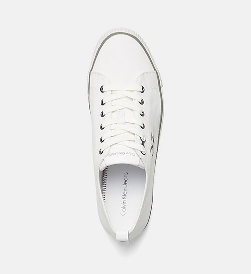 CALVIN KLEIN JEANS Canvas Sneakers - BLACK/WHITE - CALVIN KLEIN JEANS SHOES - detail image 1