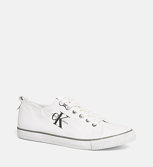 CALVIN KLEIN JEANS Canvas Sneakers - BLACK/WHITE - CALVIN KLEIN JEANS SHOES - main image