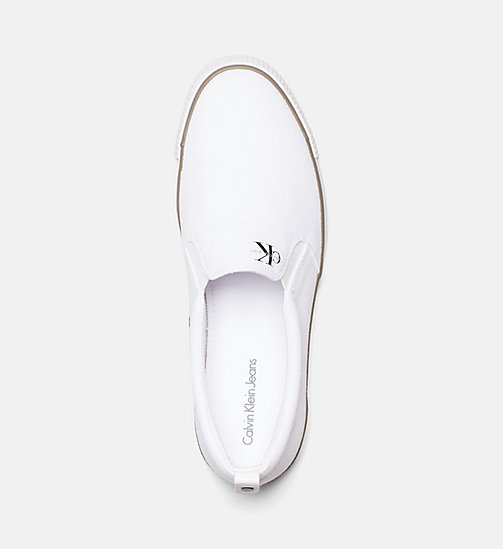CALVIN KLEIN JEANS Canvas Slip-On Shoes - BLACK/WHITE - CALVIN KLEIN JEANS TRAINERS - detail image 1