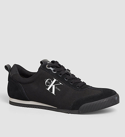 CALVIN KLEIN JEANS Canvas Sneakers - BLACK/BLACK - CALVIN KLEIN JEANS SHOES - main image