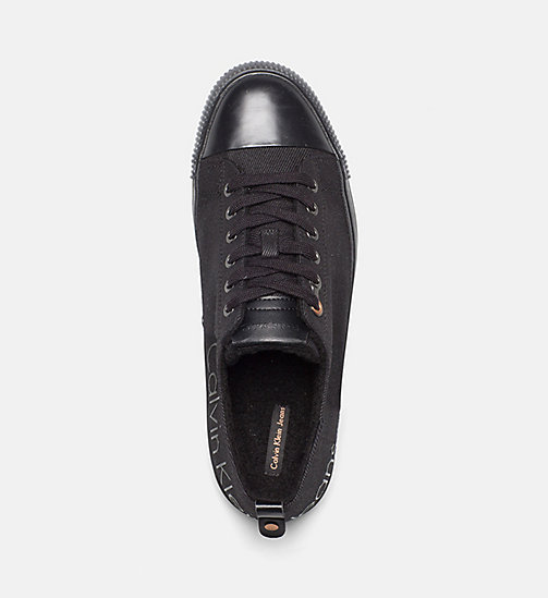 CALVIN KLEIN JEANS Twill Sneakers - BLACK - CALVIN KLEIN JEANS TRAINERS - detail image 1