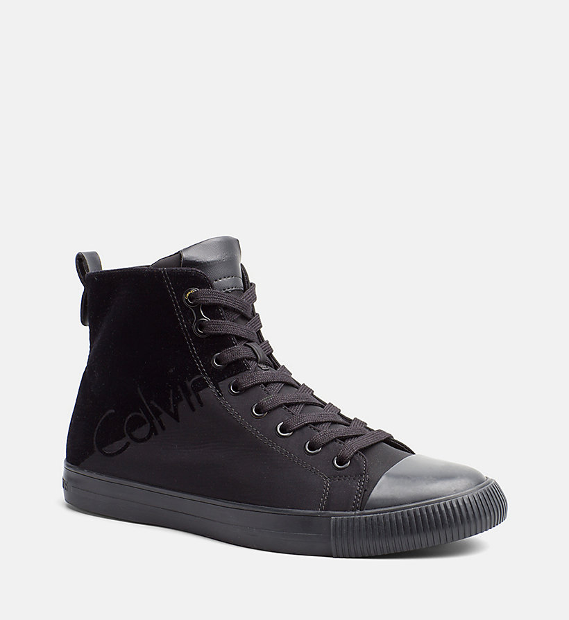 nylon twill high top sneakers calvin klein 00000s0495bbk. Black Bedroom Furniture Sets. Home Design Ideas