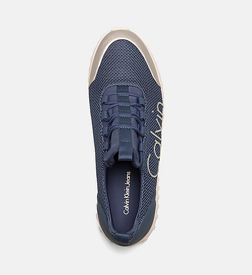 CALVIN KLEIN JEANS Mesh Sneakers - STEEL BLUE/SILVER - CALVIN KLEIN JEANS TRAINERS - detail image 1