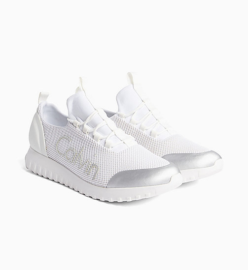 CALVIN KLEIN JEANS Mesh sneakers - WHITE/SILVER - CALVIN KLEIN JEANS HEAT WAVE - detail image 1