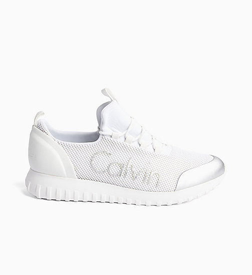 CALVIN KLEIN JEANS Mesh sneakers - WHITE/SILVER - CALVIN KLEIN JEANS HEAT WAVE - main image