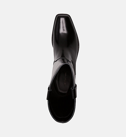 CALVIN KLEIN COLLECTION Leather Cowboy Boots - BLACK - CALVIN KLEIN COLLECTION GET SMART - detail image 1