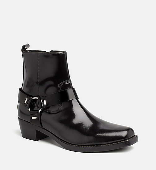 CALVIN KLEIN JEANS Leather Ankle Boots - BLACK - CALVIN KLEIN JEANS GET SMART - main image
