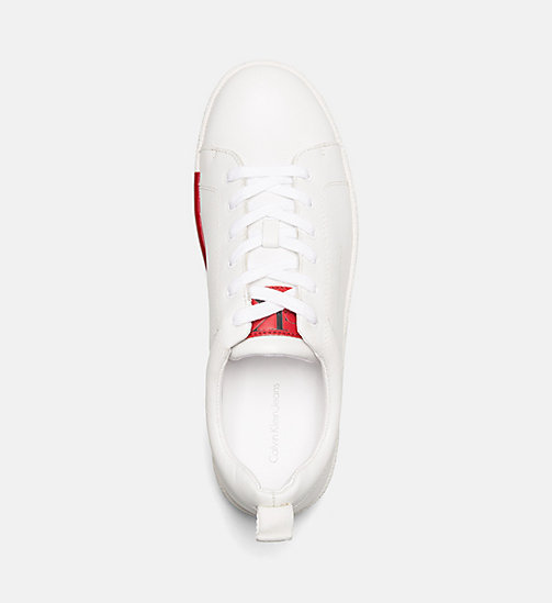 CALVIN KLEIN JEANS Leather Sneakers - WHITE - CALVIN KLEIN JEANS TRAINERS - detail image 1