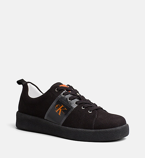 CALVIN KLEIN JEANS Twill Sneakers - BLACK - CALVIN KLEIN JEANS TRAINERS - main image
