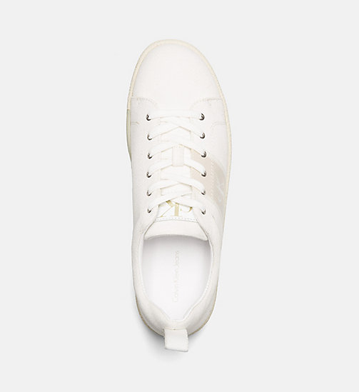 CALVIN KLEIN JEANS Twill sneakers - OFF WHITE - CALVIN KLEIN JEANS SNEAKERS - detail image 1