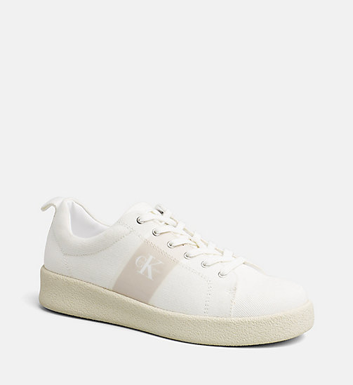 CALVIN KLEIN JEANS Twill sneakers - OFF WHITE - CALVIN KLEIN JEANS SNEAKERS - main image