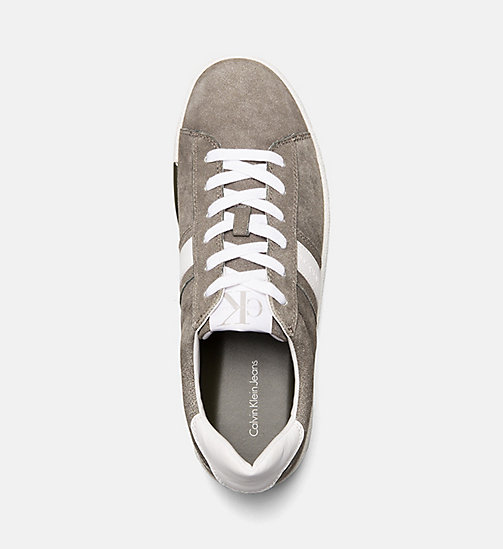 CALVIN KLEIN JEANS Suede Sneakers - CARGO/WHITE - CALVIN KLEIN JEANS TRAINERS - detail image 1