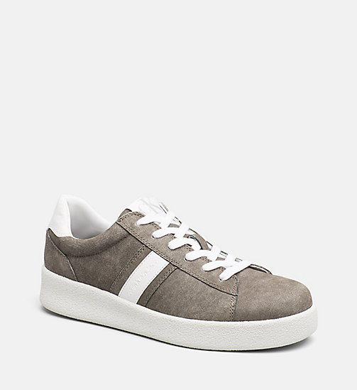 CALVIN KLEIN JEANS Suede Sneakers - CARGO/WHITE - CALVIN KLEIN JEANS TRAINERS - main image