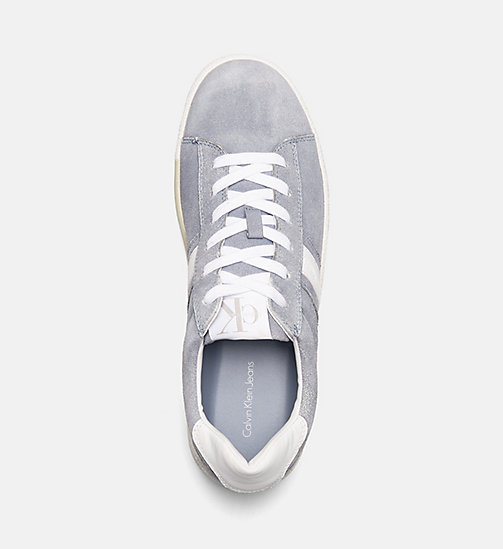 CALVIN KLEIN JEANS Suede Sneakers - DENIM BLUE/WHITE - CALVIN KLEIN JEANS TRAINERS - detail image 1