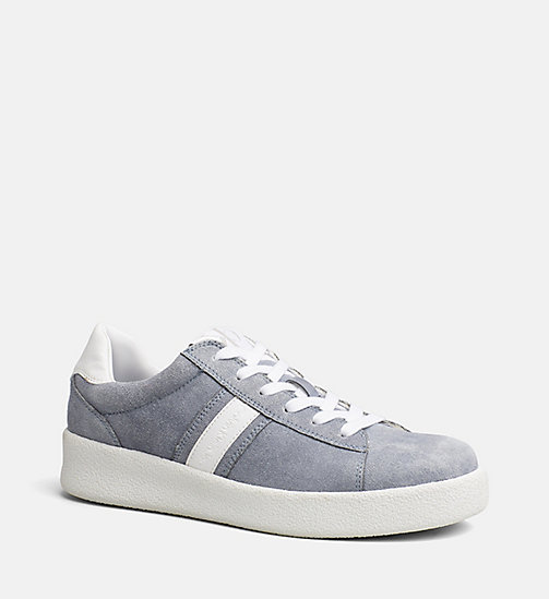 CALVIN KLEIN JEANS Suede Sneakers - DENIM BLUE/WHITE - CALVIN KLEIN JEANS TRAINERS - main image