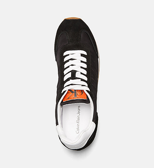 CALVIN KLEIN JEANS Suede Nylon Sneakers - BLACK - CALVIN KLEIN JEANS TRAINERS - detail image 1
