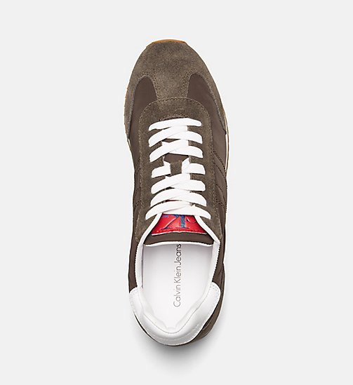 CALVIN KLEIN JEANS Suede Nylon Sneakers - CARGO - CALVIN KLEIN JEANS TRAINERS - detail image 1
