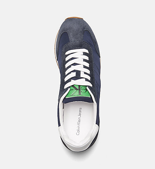 CALVIN KLEIN JEANS Suede Nylon Sneakers - INDIGO - CALVIN KLEIN JEANS TRAINERS - detail image 1