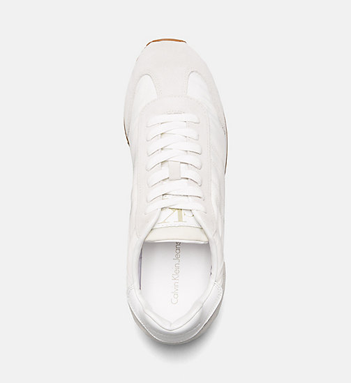 CALVIN KLEIN JEANS Suede Nylon Sneakers - OFF WHITE - CALVIN KLEIN JEANS HEAT WAVE - detail image 1
