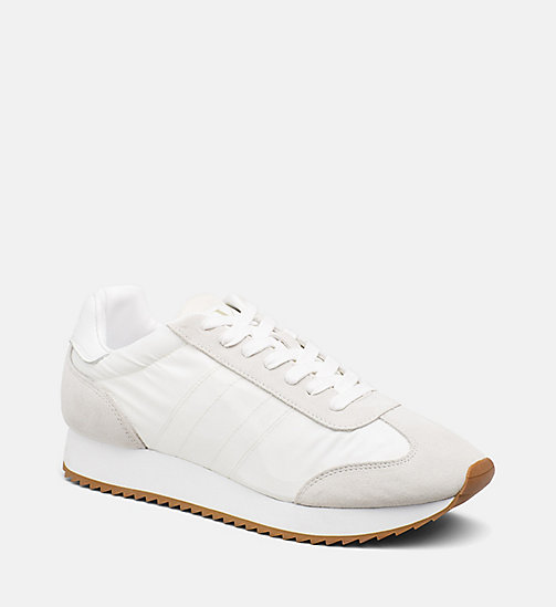 CALVIN KLEIN JEANS Suede Nylon Sneakers - OFF WHITE - CALVIN KLEIN JEANS HEAT WAVE - main image