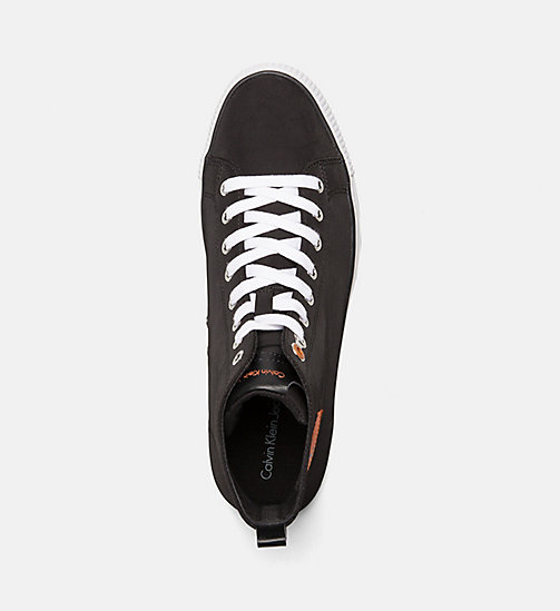CALVIN KLEIN JEANS Nylon High-Top Sneakers - BLACK - CALVIN KLEIN JEANS TRAINERS - detail image 1