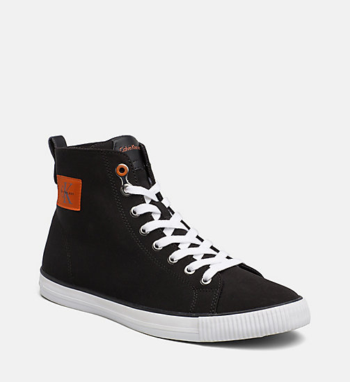 CALVIN KLEIN JEANS Nylon High-Top Sneakers - BLACK - CALVIN KLEIN JEANS TRAINERS - main image
