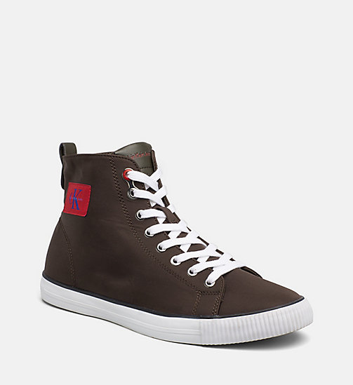 CALVIN KLEIN JEANS Nylon High-Top Sneakers - CARGO - CALVIN KLEIN JEANS TRAINERS - main image