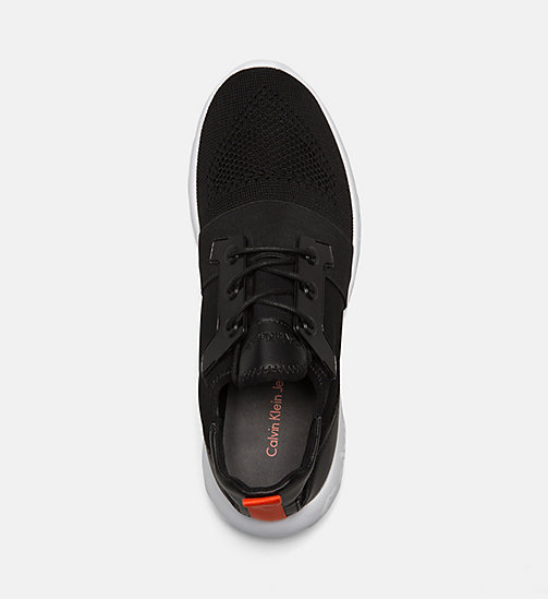 CALVIN KLEIN JEANS Knit Sneakers - BLACK - CALVIN KLEIN JEANS TRAINERS - detail image 1