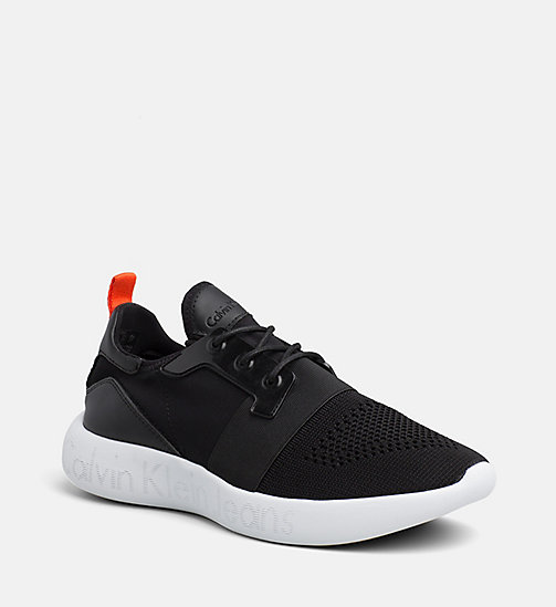 CALVIN KLEIN JEANS Knit Sneakers - BLACK - CALVIN KLEIN JEANS TRAINERS - main image