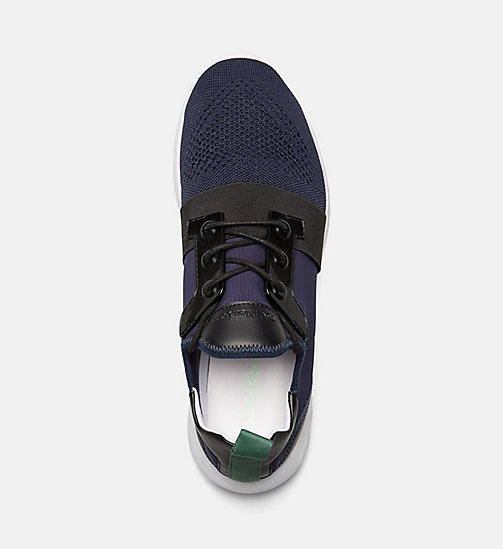 CALVIN KLEIN JEANS Knit Sneakers - INDIGO - CALVIN KLEIN JEANS SHOES & ACCESSORIES - detail image 1