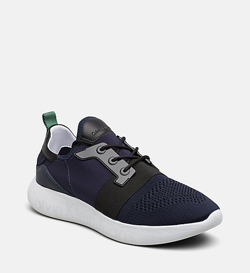 CALVIN KLEIN JEANS Knit Sneakers - INDIGO - CALVIN KLEIN JEANS SHOES & ACCESSORIES - main image