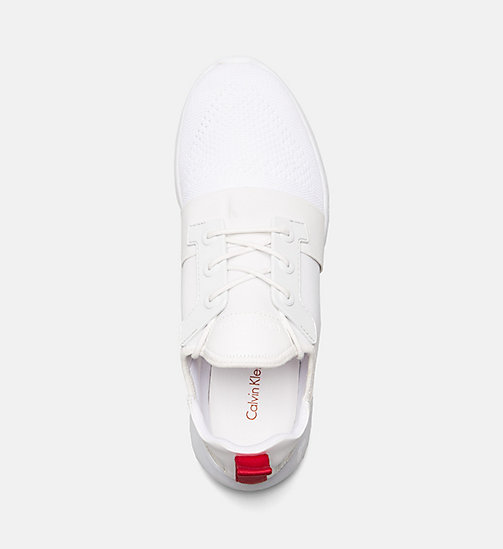 CALVIN KLEIN JEANS Knit Sneakers - WHITE - CALVIN KLEIN JEANS SHOES & ACCESSORIES - detail image 1