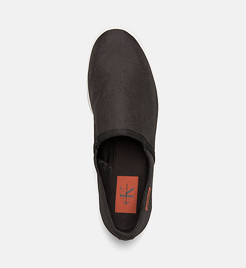 CALVIN KLEIN JEANS Nylon Slip-On Shoes - BLACK - CALVIN KLEIN JEANS SHOES & ACCESSORIES - detail image 1