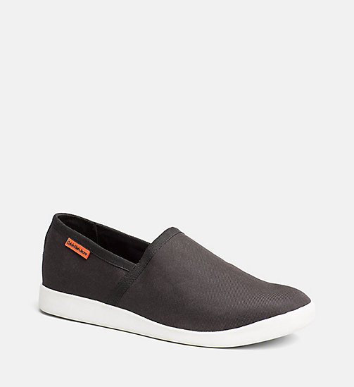CALVIN KLEIN JEANS Nylon Slip-On Shoes - BLACK - CALVIN KLEIN JEANS SHOES & ACCESSORIES - main image
