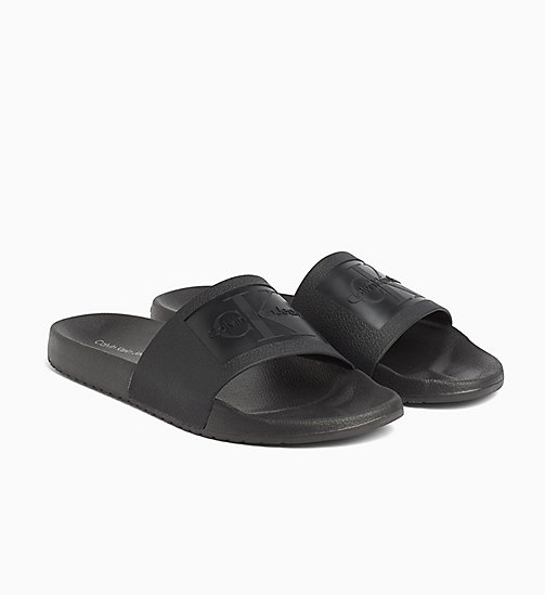 CALVIN KLEIN JEANS Jelly Sliders - BLACK - CALVIN KLEIN JEANS SLIDERS - detail image 1