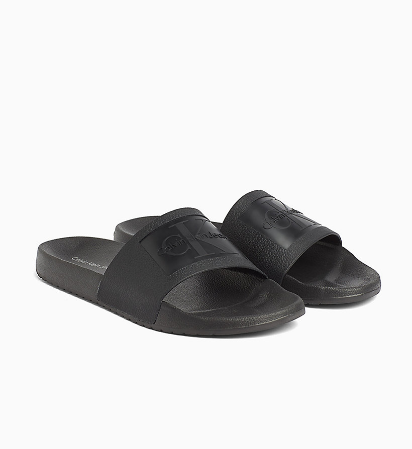 CALVIN KLEIN JEANS Jelly Sliders - WHITE - CALVIN KLEIN JEANS MEN - detail image 1