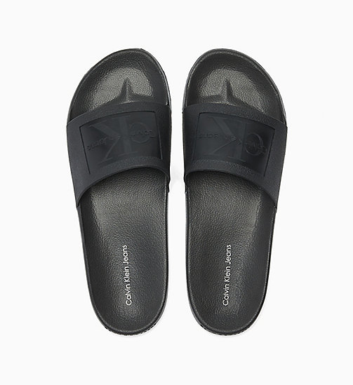 CALVIN KLEIN JEANS Jelly Sliders - BLACK - CALVIN KLEIN JEANS SLIDERS - main image