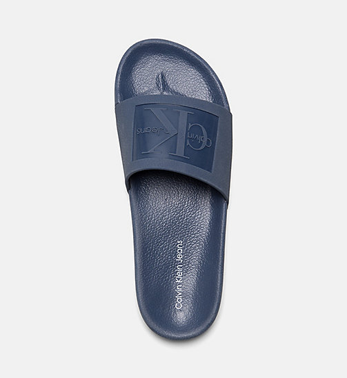 CALVIN KLEIN JEANS Jelly Sliders - STEEL BLUE - CALVIN KLEIN JEANS SLIDERS - detail image 1