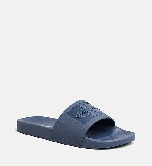 CALVIN KLEIN JEANS Jelly Sliders - STEEL BLUE - CALVIN KLEIN JEANS SLIDERS - main image