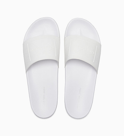 CALVIN KLEIN JEANS Jelly Sliders - WHITE - CALVIN KLEIN JEANS SLIDERS - main image