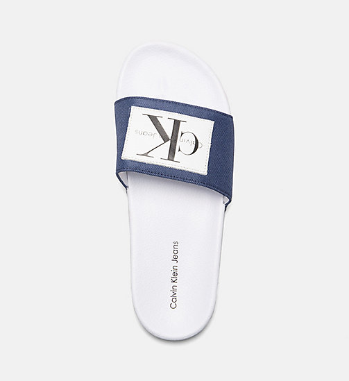 CALVIN KLEIN JEANS Nylon Sliders - STEEL BLUE - CALVIN KLEIN JEANS HEAT WAVE - detail image 1