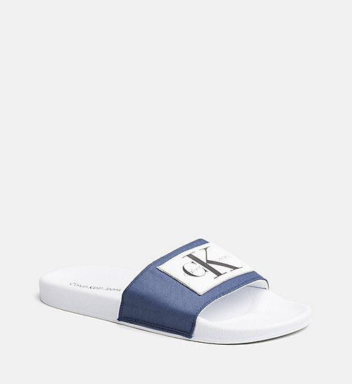 CALVIN KLEIN JEANS Nylon Sliders - STEEL BLUE - CALVIN KLEIN JEANS HEAT WAVE - main image