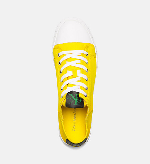 CALVIN KLEIN JEANS Nylon Sneakers - ACCENT YELLOW - CALVIN KLEIN JEANS TRAINERS - detail image 1