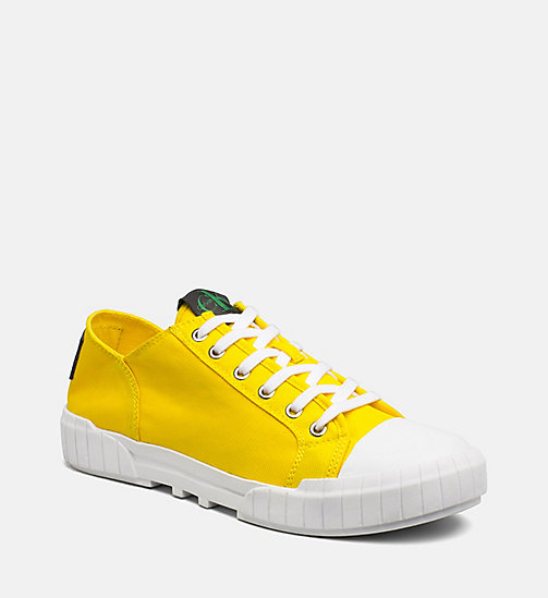 CALVIN KLEIN JEANS Nylon Sneakers - ACCENT YELLOW - CALVIN KLEIN JEANS TRAINERS - main image