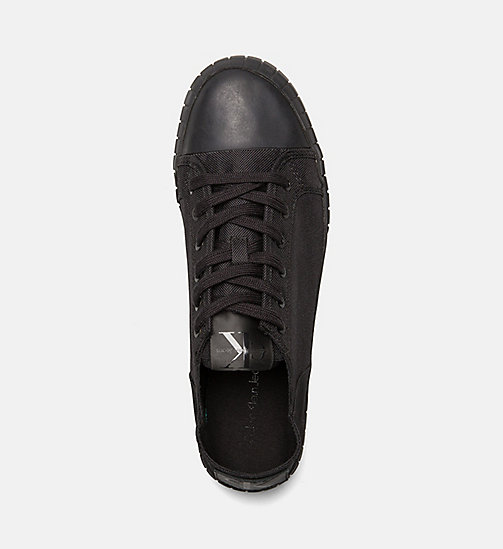 CALVIN KLEIN JEANS Nylon Sneakers - BLACK/BLACK - CALVIN KLEIN JEANS SHOES & ACCESSORIES - detail image 1