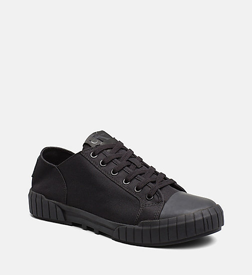 CALVIN KLEIN JEANS Nylon Sneakers - BLACK/BLACK - CALVIN KLEIN JEANS SHOES & ACCESSORIES - main image