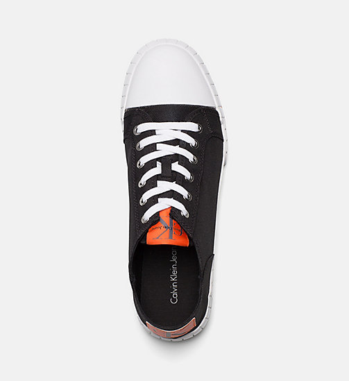 CALVIN KLEIN JEANS Nylon Sneakers - BLACK - CALVIN KLEIN JEANS SHOES & ACCESSORIES - detail image 1