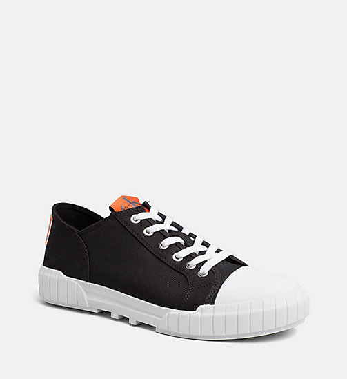 CALVIN KLEIN JEANS Nylon Sneakers - BLACK - CALVIN KLEIN JEANS SHOES & ACCESSORIES - main image